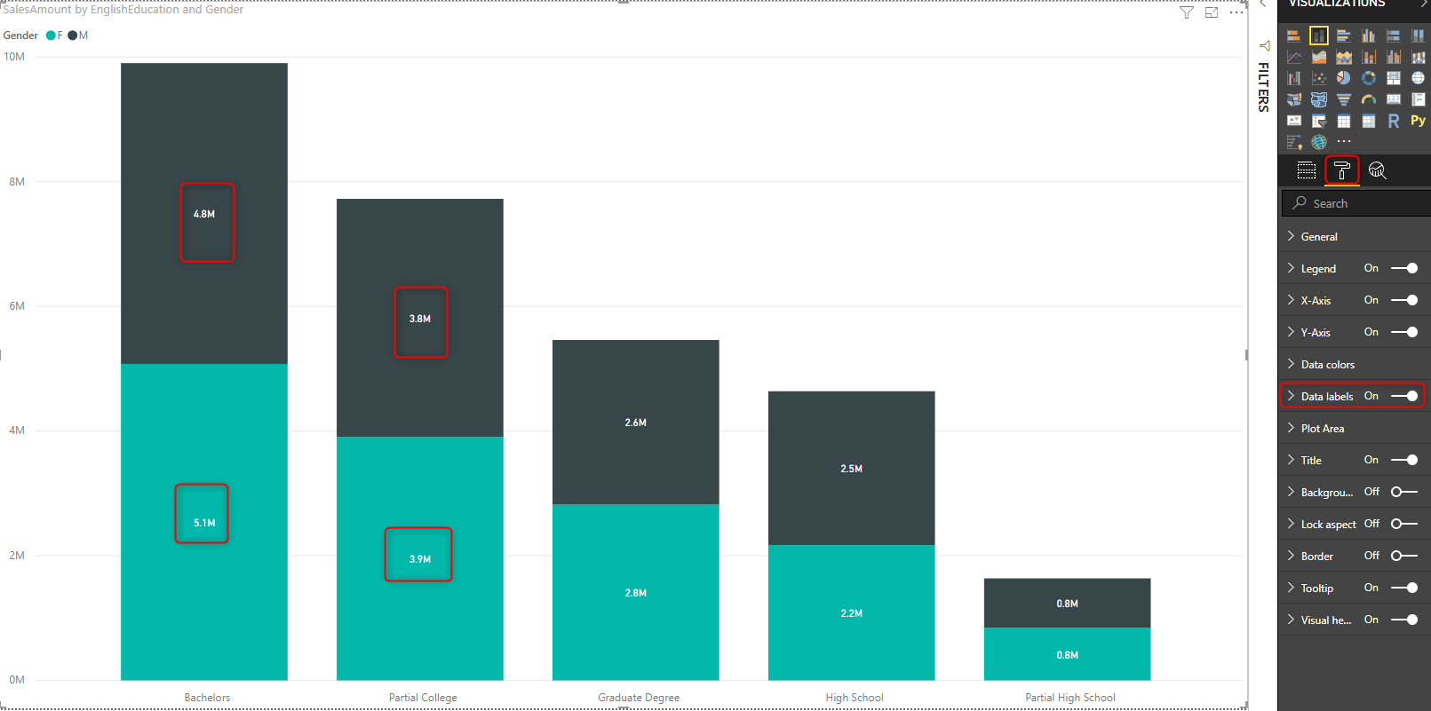 Showing the Total Value in Stacked Column Chart in Power BI | RADACAD