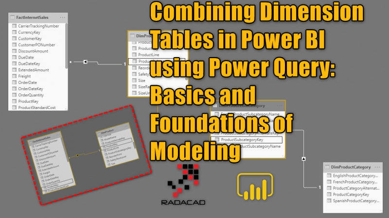 Combining Dimension Tables in Power BI using Power Query: Basics and Foundations of Modeling