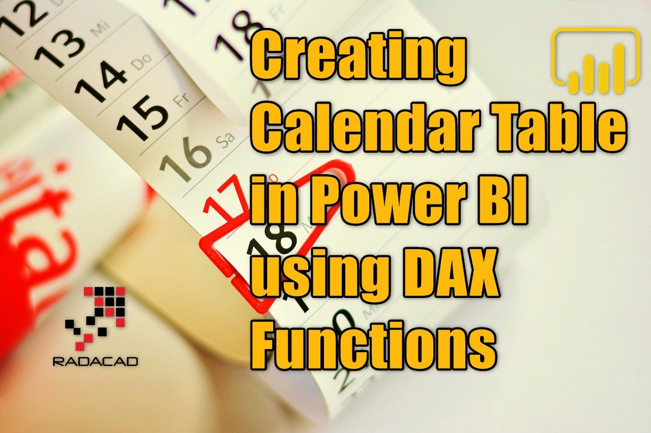 Creating Calendar Table in Power BI using DAX Functions