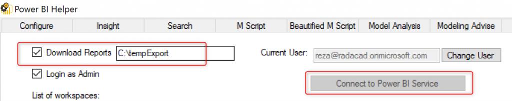 Copy workspace, Publish to Multiple workspaces, Download all PBIX