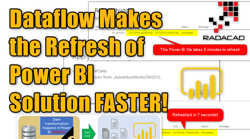 How to Use Dataflow to Make the Refresh of Power BI Solution FASTER!