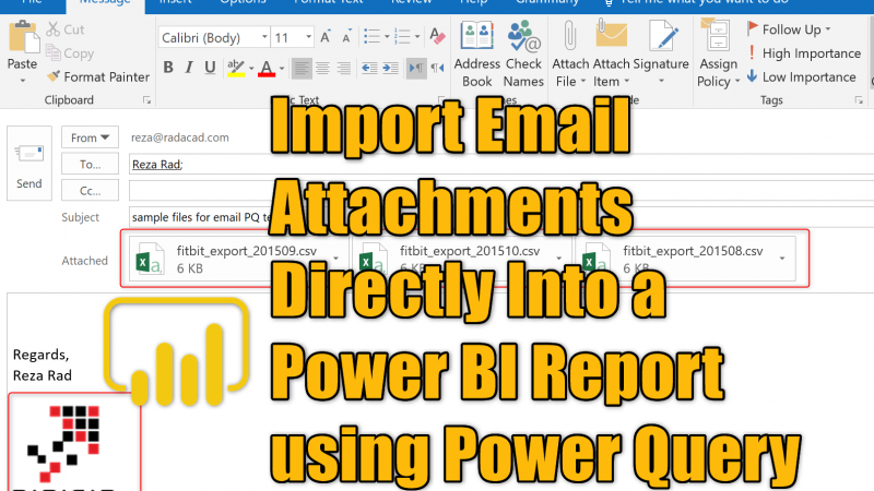 Import Email Attachments Directly Into a Power BI Report using Power Query