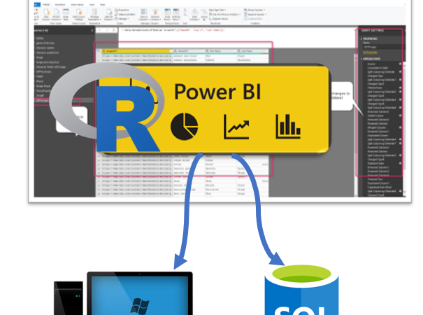 Export data from Power Query to Local Machine or SQL Server using R scripts