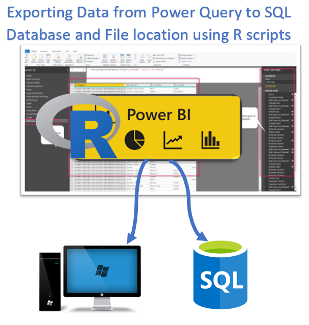Export data from Power Query to Local Machine or SQL Server using R
