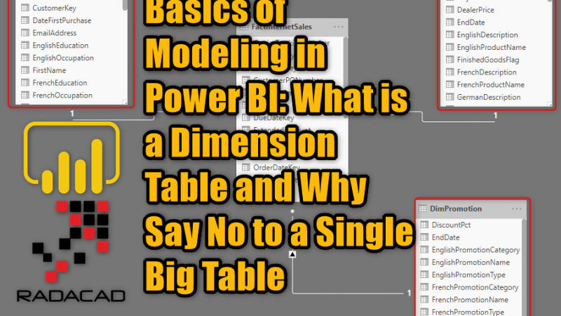 Basics of Modeling in Power BI: What is a Dimension Table and Why Say No to a Single Big Table
