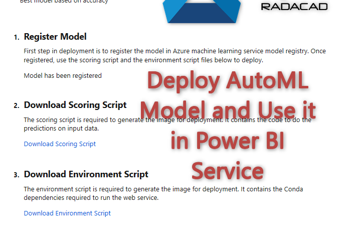 Azure Machine Learning Services : Deploy AutoML Model and Use it in Power BI- Part 3