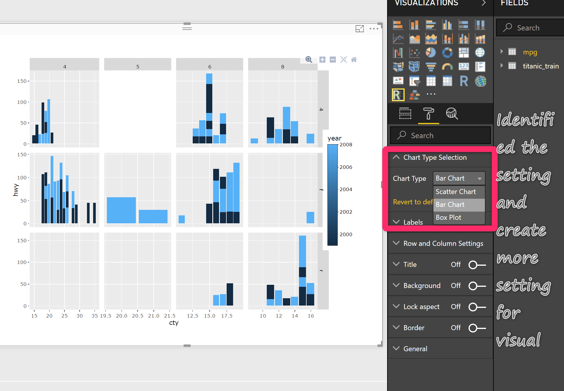 Create Visual/Custom Visual for Power BI: Different