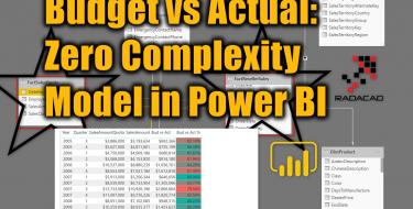 Budget vs Actual: Zero Complexity Model in Power BI