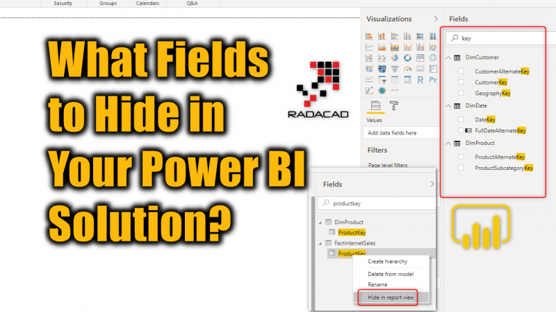 What Fields to Hide in Your Power BI Solution?