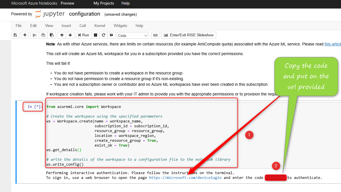 Prediction Model in Azure Notebooks using Python: a Sample