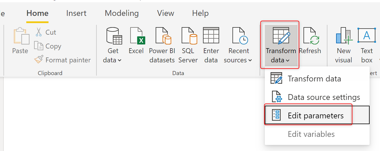 Change the Source of Power BI Datasets Dynamically Using